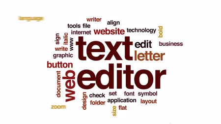 autor : Text editor animated word cloud, text design animation.