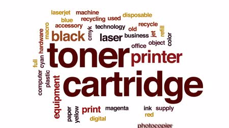 используемый : Toner cartridge animated word cloud, text design animation.