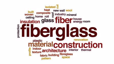 poddasze : Fiberglass animated word cloud, text design animation. Wideo