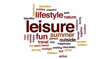 aventura : Leisure animated word cloud, text design animation.