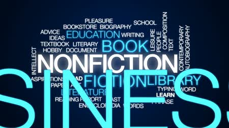 edebi : Nonfiction animated word cloud, text design animation.