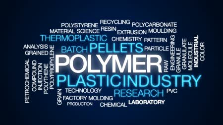 petrolkémiai : Polymer animated word cloud, text design animation. Stock mozgókép