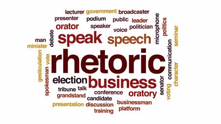 mikrofon : Rhetoric animated word cloud, text design animation.