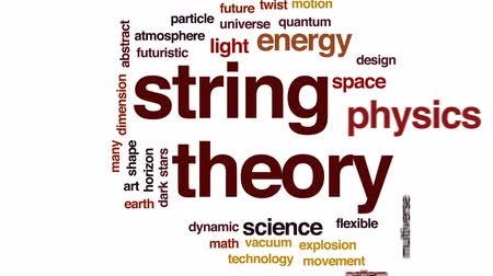 dimensão : String theory animated word cloud, text design animation.