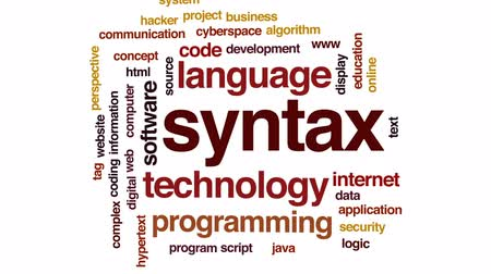 żródło : Syntax animated word cloud, text design animation. Wideo