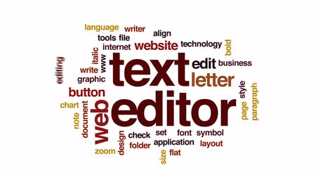 пункт : Text editor animated word cloud, text design animation.