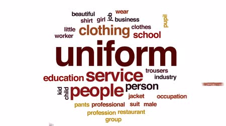 trousers : Uniform animated word cloud, text design animation.