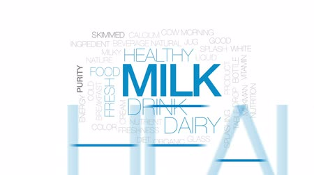 хорошее здоровье : Milk animated word cloud, text design animation. Kinetic typography.