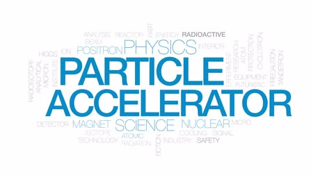 reactor : Particle accelerator animated word cloud, text design animation. Kinetic typography. Stock Footage