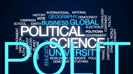 autoridade : Political science animated word cloud, text design animation. Stock Footage