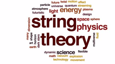 размеры : String theory animated word cloud, text design animation.