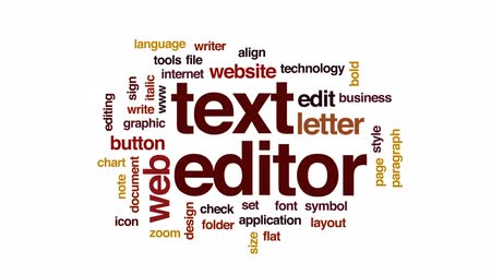 редактировать : Text editor animated word cloud, text design animation.
