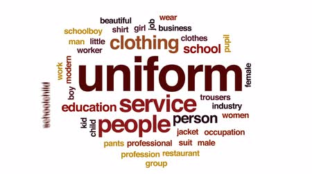 kalhoty : Uniform animated word cloud, text design animation.