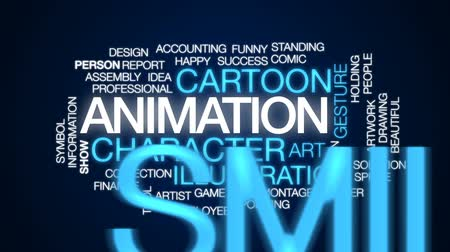 sprite : Animation animated word cloud, text design animation.