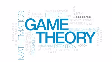 notion : Game theory animated word cloud, text design animation. Kinetic typography. Stock Footage