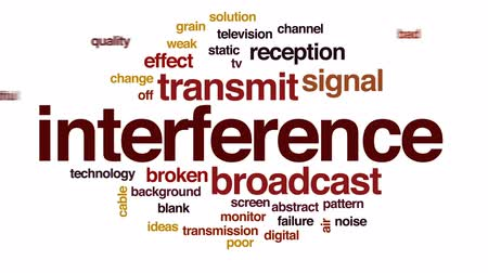 transmit : Interference animated word cloud, text design animation.