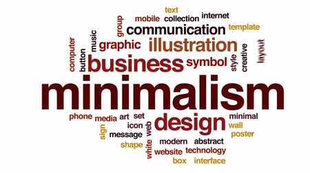 bez szwu : Minimalism animated word cloud, text design animation. Wideo