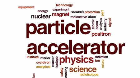 reactor : Particle accelerator animated word cloud, text design animation.