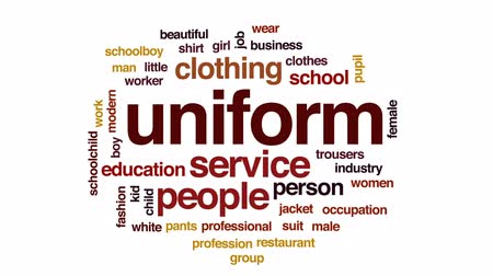 Uniform animated word cloud, text design animation.