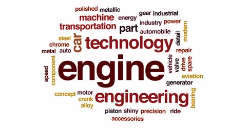 łożysko : Engine animated word cloud, text design animation. Wideo