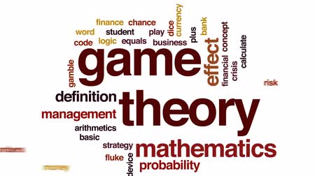 relativity : Game theory animated word cloud, text design animation. Stock Footage