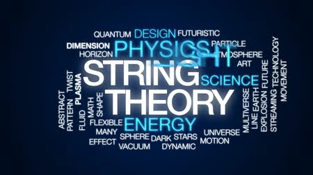 teoria : String theory animated word cloud, text design animation.