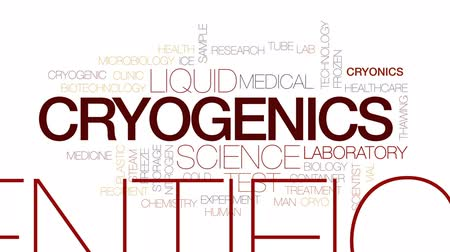 fiola : Cryogenics animated word cloud, text design animation. Kinetic typography.