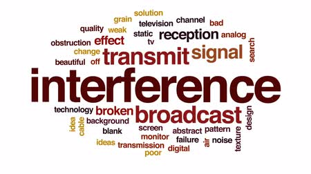 transmitir : Interference animated word cloud, text design animation.