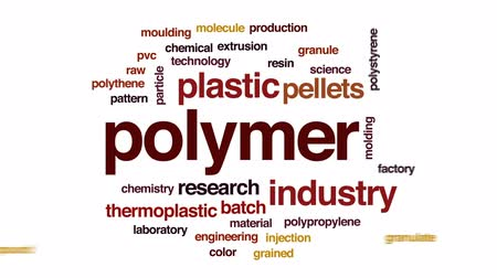 granulação : Polymer animated word cloud, text design animation. Stock Footage