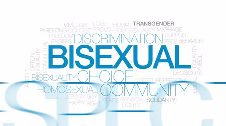 sexualita : Bisexual animated word cloud, text design animation. Kinetic typography.