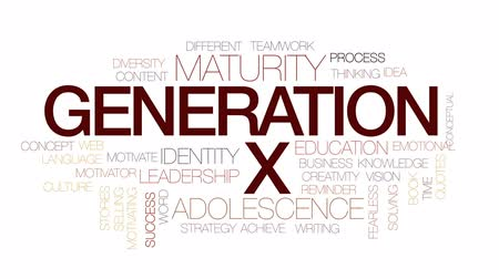 fearless : Generation X animated word cloud, text design animation. Kinetic typography.