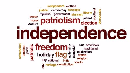 demokratický : Independence animated word cloud, text design animation. Dostupné videozáznamy