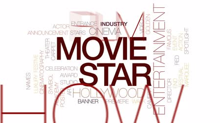 dyrektor : Movie star animated word cloud, text design animation. Kinetic typography.