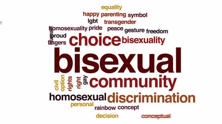 sexualita : Bisexual animated word cloud, text design animation. Dostupné videozáznamy