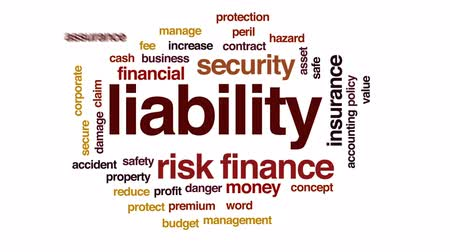 properties : Liability animated word cloud, text design animation.
