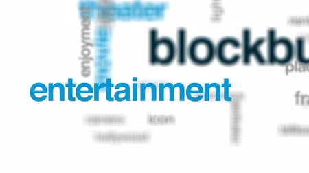 blockbuster : Blockbuster animated word cloud, text design animation. Stock Footage
