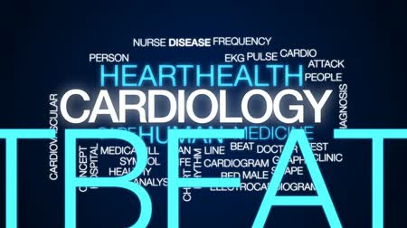 şıklık : Cardiology animated word cloud, text design animation.