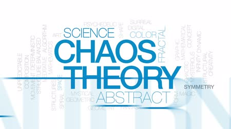 teoria : Chaos theory animated word cloud, text design animation. Kinetic typography. Vídeos