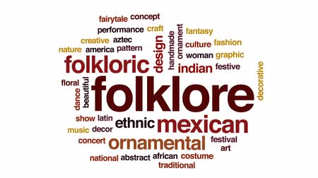azték : Folklore animated word cloud, text design animation. Stock mozgókép