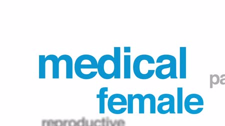 gynaecology : Gynaecologist animated word cloud, text design animation.