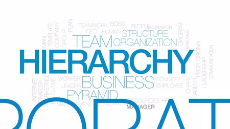 hierarchy : Hierarchy animated word cloud, text design animation. Kinetic typography.