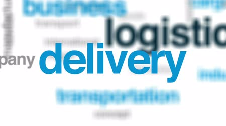 rád : Logistics animated word cloud, text design animation.
