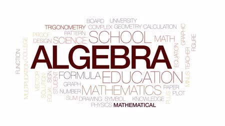 eşitlik : Algebra animated word cloud, text design animation. Kinetic typography.