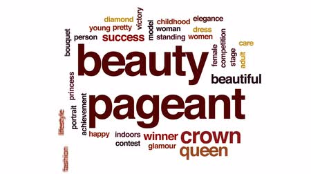 rainha : Beauty pageant animated word cloud, text design animation.