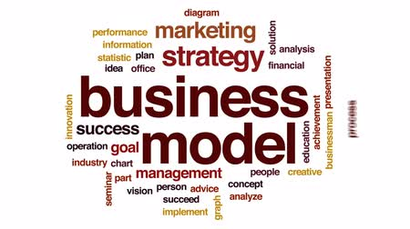преуспевать : Business model animated word cloud, text design animation.
