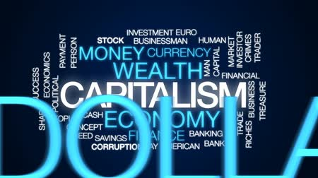 ganancioso : Capitalism animated word cloud, text design animation.