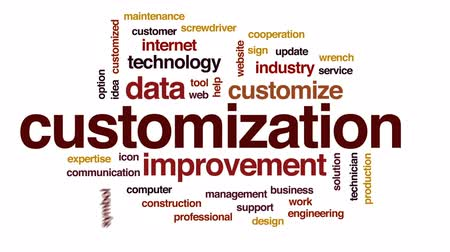 csavarkulcs : Customization animated word cloud, text design animation. Stock mozgókép