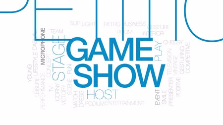 подиум : Game show accelerator animated word cloud, text design animation. Kinetic typography. Стоковые видеозаписи