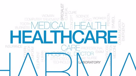 health insurance : Healthcare animated word cloud, text design animation. Kinetic typography.