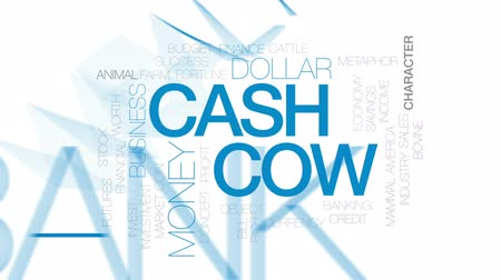 que vale a pena : Cash cow animated word cloud, text design animation. Kinetic typography.